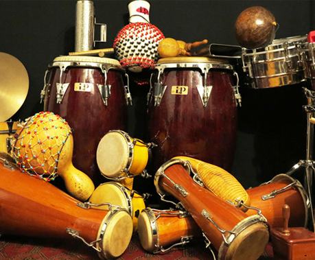 Percussions afro-caribéennes et de l'île la Réunion